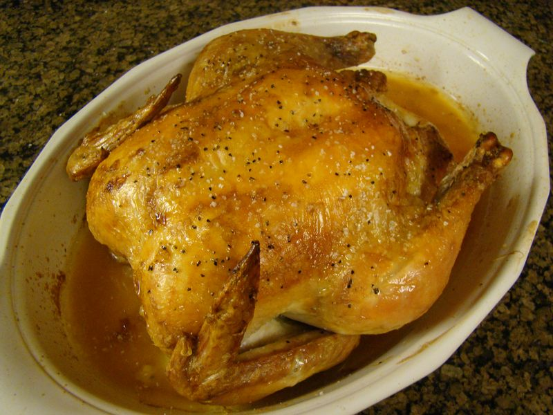 Lemon Roast Chicken_Cooked